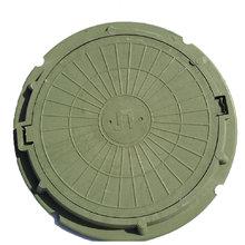 Люк полимербетонный (до 1,5тн) диаметр: 740 мм зеленый