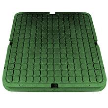 Люк полимерно-композитный квадратный (до 1,5тн) диаметр: 685х685 мм зеленый