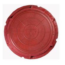 Люк полимербетонный диаметр: 750/60 мм красный (до 3т)