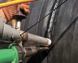 Пайка дна колодца экструдером диаметр: 500 мм