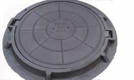 Люк полимербетонный диаметр: 750/60 мм черный (до 3т) зеленый