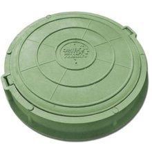 Люк полимербетонный диаметр: 760/90/40 мм зеленый (до 5т)