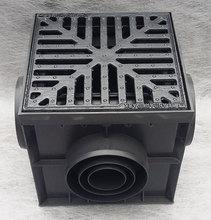 Дождеприемник пластиковый укомплектованный (2 сифон-перегородки + корзина для сбора мусора) с решеткой чугунной