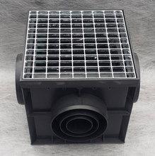 Дождеприемник пластиковый укомплектованный (2 сифон-перегородки + корзина для сбора мусора) с решеткой ячеистой стальной оцинкованной