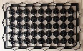 Газонная решетка черная (600х400х50)