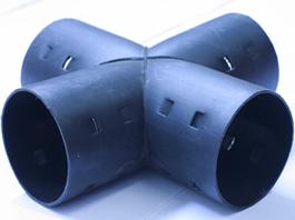 Крестовина для дренажных труб Ø63 мм