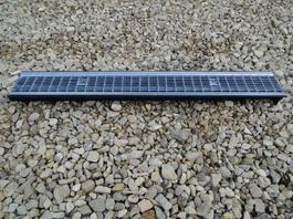Водоотводный лоток пластиковый дренажный с решеткой ячеистой сталь оцинкованная (1000x145x60)