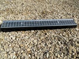 Водоотводный лоток пластиковый дренажный с решеткой ячеистой сталь оцинкованная (1000x145x80)
