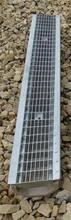 Водоотводный лоток полимербетонный с решеткой ячеистой сталь оцинкованная (1000x140x70)