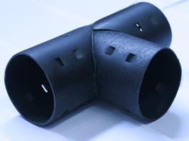 Тройник для дренажных труб Ø63 мм