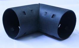 Угольник 90° для дренажных труб Ø63 мм