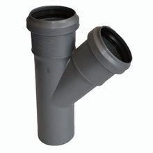 Тройник - диаметр 50 мм / диаметр 50 мм / 45º