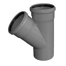 Тройник - диаметр 110 мм / диаметр 110 мм / 45º
