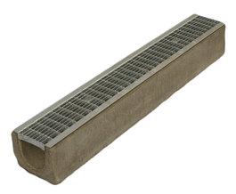 Водоотводный лоток бетонный Standart с решеткой ячеистой сталь оцинкованная (1000x140x125)