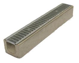 Водоотводный лоток бетонный Standart с решеткой ячеистой сталь оцинкованная (1000x165x145)