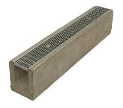 Водоотводный лоток бетонный Standart с решеткой ячеистой сталь оцинкованная (1000x165x190)