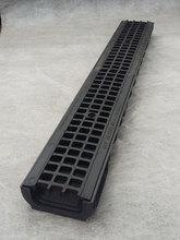 Водоотводный лоток пластиковый дренажный с решеткой пластиковой ячеистой (1000x145x60)